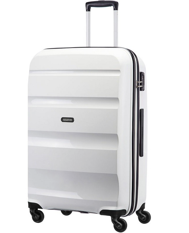 American Tourister White 4 wheel spinner