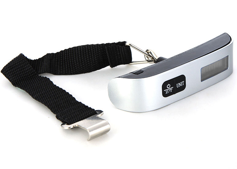 Portable Electronic Digital Luggage Hanging Weighing Scale with Hook Strap