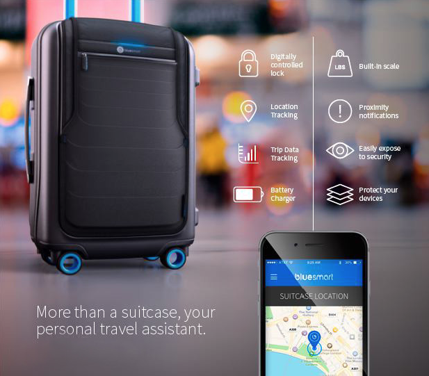 Bluesmart Smart Carry-On Luggage