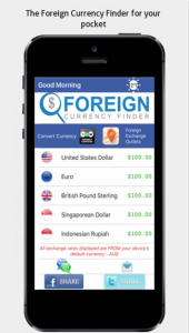 Foreign Currency Finder iPhone App