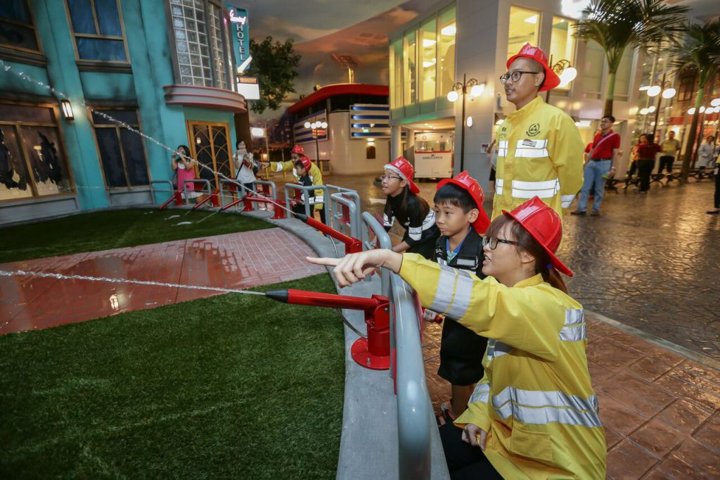 Fighting fires at KidZania